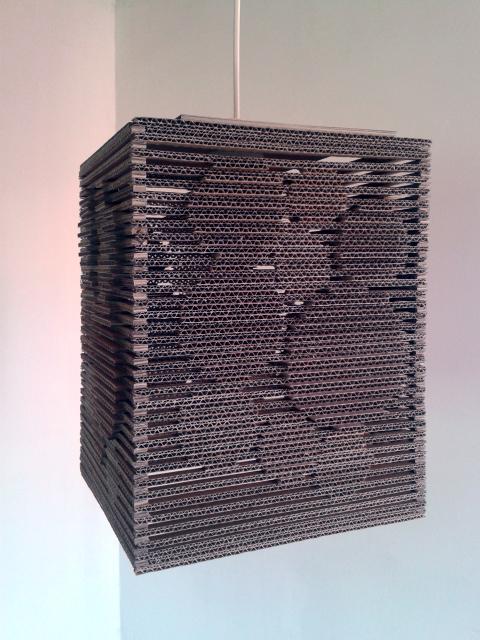 Lampa z kartonu - kolka 3d - 4