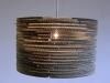 beczka-1 - lampa z kartonu, cardbord lamp