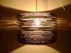 beczka-2-6 - lampa z kartonu, cardbord lamp