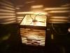 luka-4 - lampa z kartonu, cardbord lamp