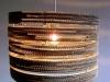 sznurek-5 - lampa z kartonu, cardbord lamp